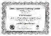 Urkunde zertifizierter Hypnotherapist